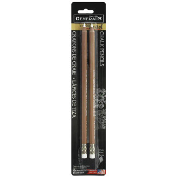 MultiPastel White Chalk Pencils, 2 Pack
