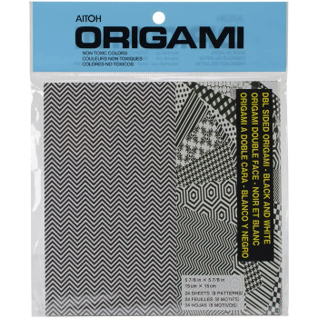 Origami Black & White Paper, 24 Pack