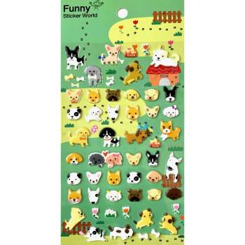 Puffy Puppy Stickers