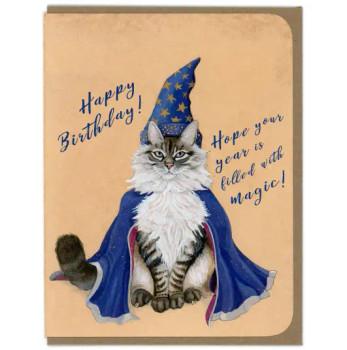 Wizard Cat Birthday Card