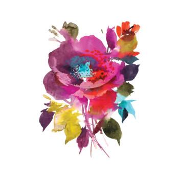 Festive Floral Temporary Tattoo