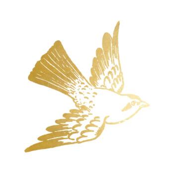 Cartolina Bird Temporary Tattoo