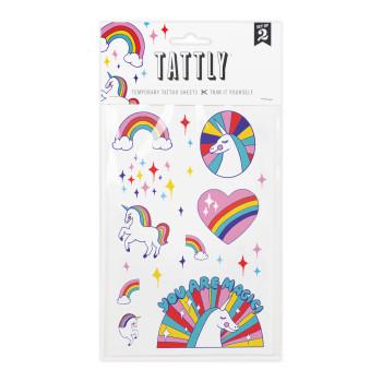 Rainbow Unicorn Temporary Tattoos