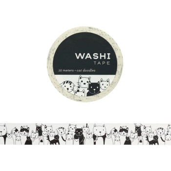 Cat Doodles Washi Tape