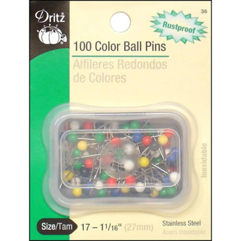 Color Ball Pins, 100 Pack