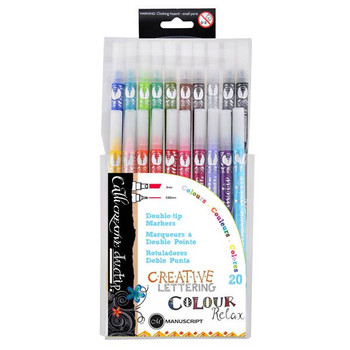 Callicreative Double-Tip Markers, Set of 20