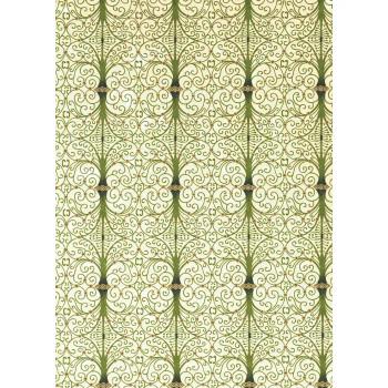 Chiyogami Paper, Iron Work Green