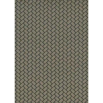 Lacquered Yūzen Paper, Tan Basketry