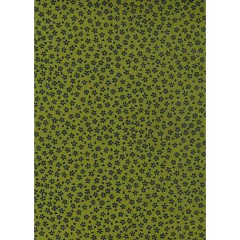 Lacquered Yūzen Paper, Sakura Green