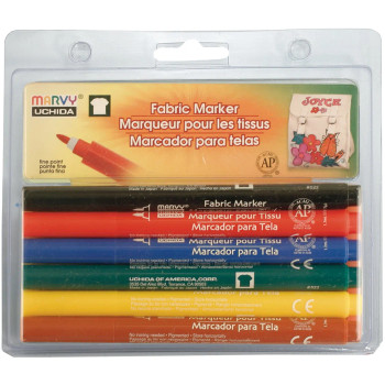 Primary Fabric Markers, Set of 6