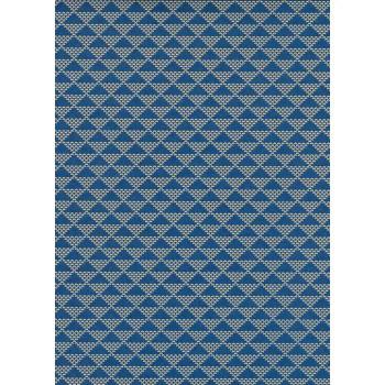 Lacquered Yūzen Paper, Blue Scales