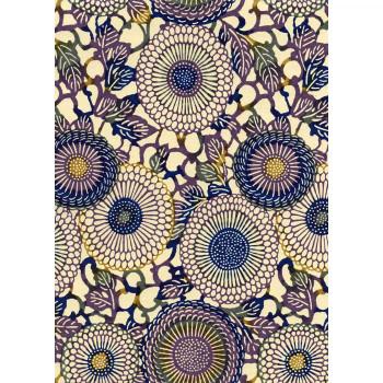 Chiyogami Paper, Sunflowers Purple