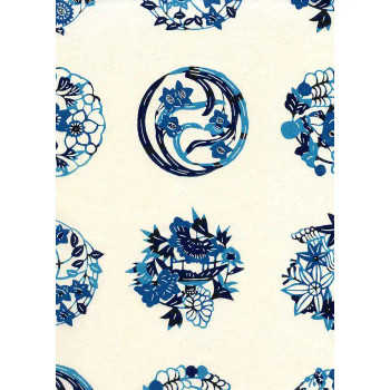 Katazome-Shi Paper, Floral Emblems