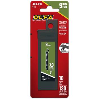 OLFA ABB-10B Black Blades, 9mm