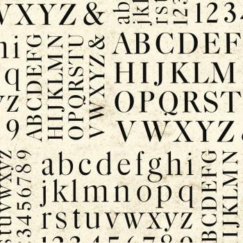 Rossi 1931 Decorative Paper, Alphabets