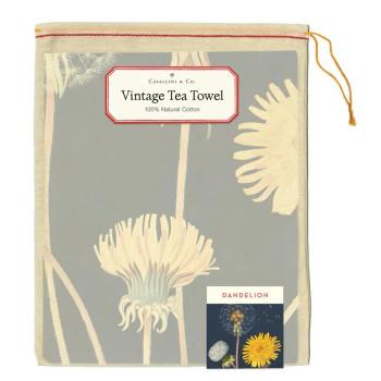 Vintage Tea Towel, Dandelion