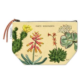 Vintage Pouch, Succulents