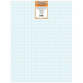 Clearprint Vellum,  8x8 Grid, 10 Sheet Packs