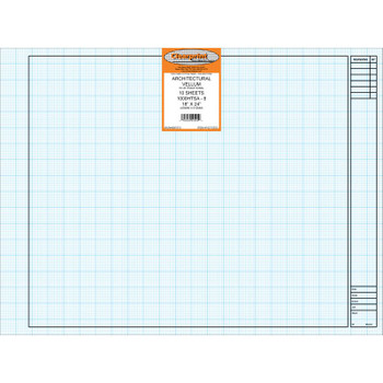 Clearprint Architectural Vellum, 8x8 Grid, 10 Sheet Packs