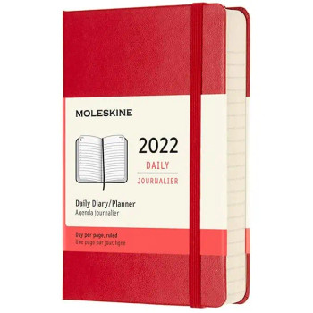 Moleskine 12-Month Daily Planner, Red