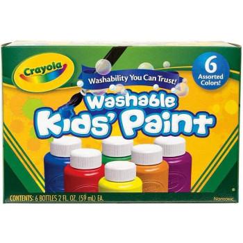 Crayola Washable Paint, Set of 6