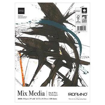 "Fabriano Mix Media Fat Pad, 9"" x 12"""