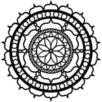 "Rosette Stencil, 6"" x 6"""