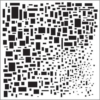 """Cubist Stencil, 6"""" x 6"""""""