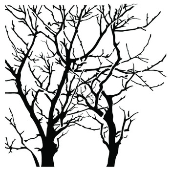 """Branches Reversed Stencil, 6"""" x 6"""""""