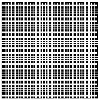 "Plaid Fringe Stencil, 6"" x 6"""