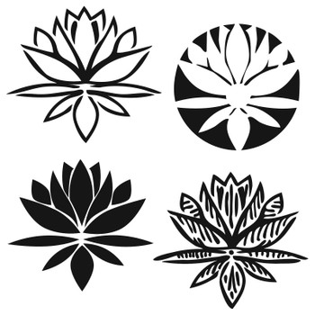 The Crafter's Workshop Stencil, Lotus Blossom