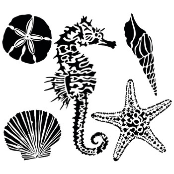 The Crafter's Workshop Stencil, Sea Creatures