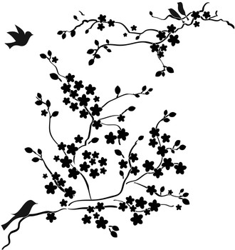 The Crafter's Workshop Stencil, Cherry Blossom