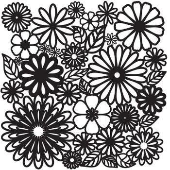 The Crafter's Workshop Stencil, Flower Frenzy