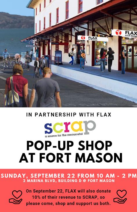 SCRAP POP-UP SHOP AT FORT MASON