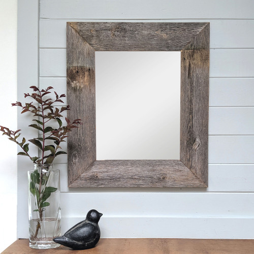 Barnwood Mirror, 17x20 - Natural