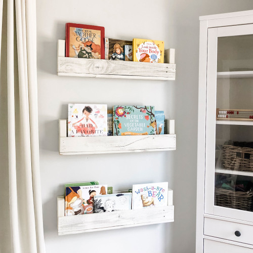 Nursery Bookshelves (Set of 3) - Whitewash