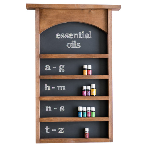 Essential Oils Wall Hanging Display Shelves with Chalkboard Back