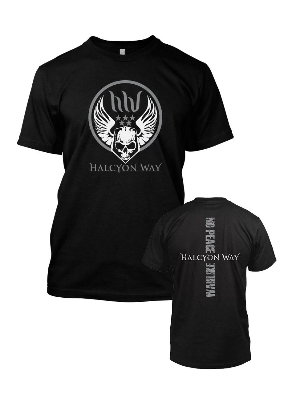 sélection premium 71ce3 4a9ab Halcyon Way - Militant Skull T-Shirt