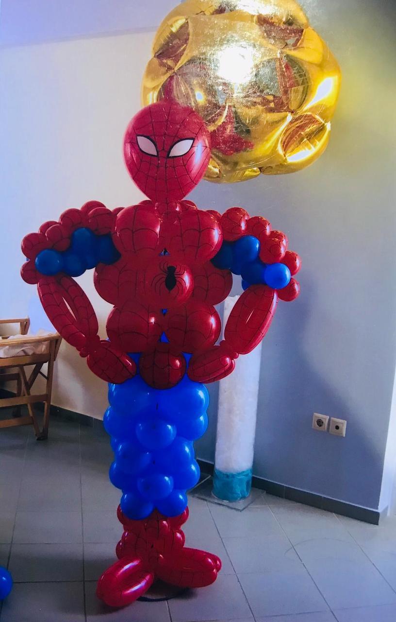 Spiderman Balloon Sculpture Spiderman Balloons Sydney Party Shop