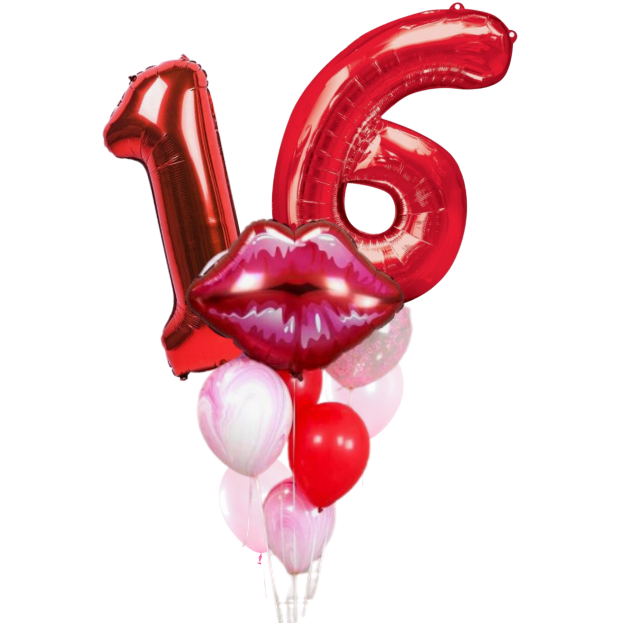 Kiss Sweet 16 Balloon Bouquet