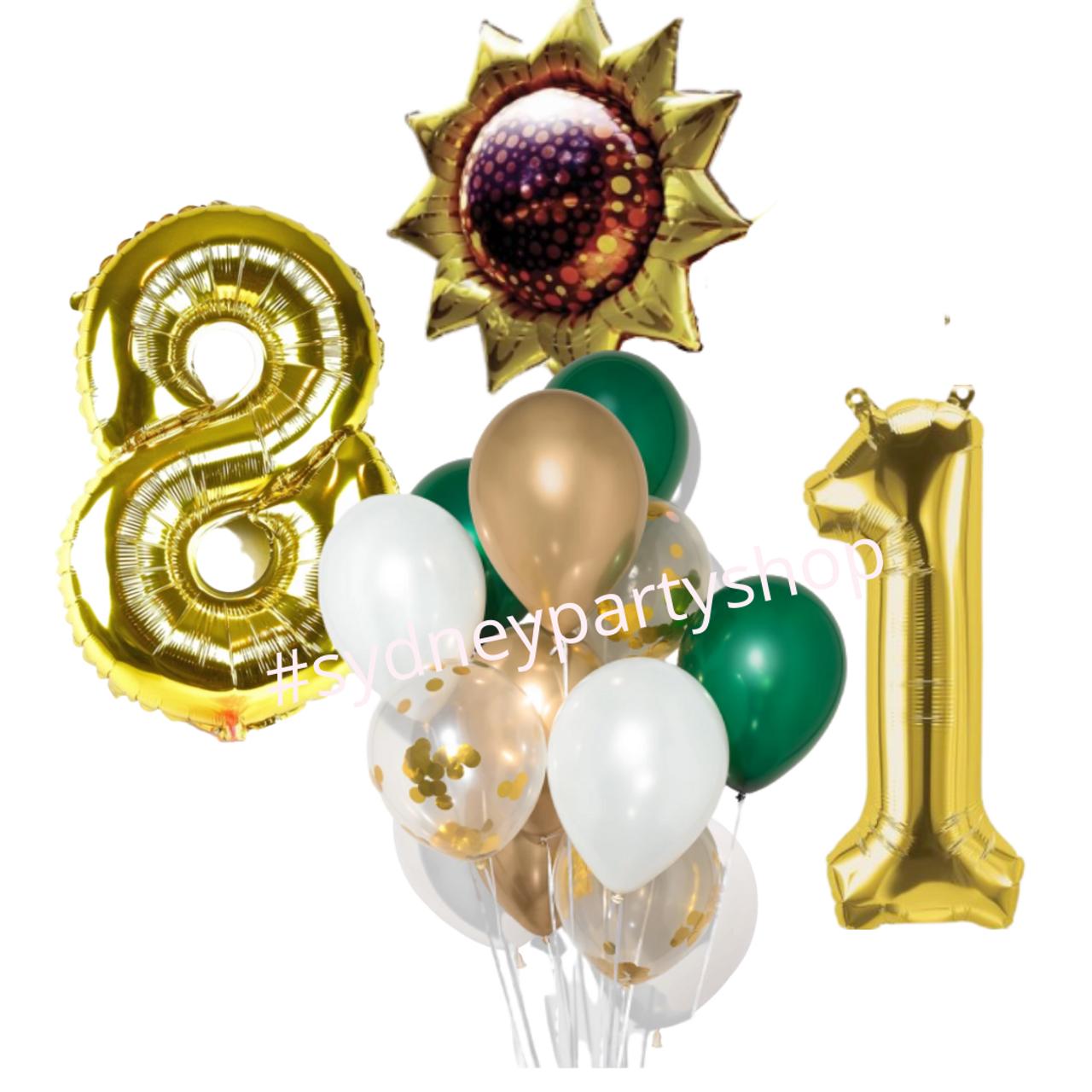 Sunflower Birthday Balloon Bouquet Bundle