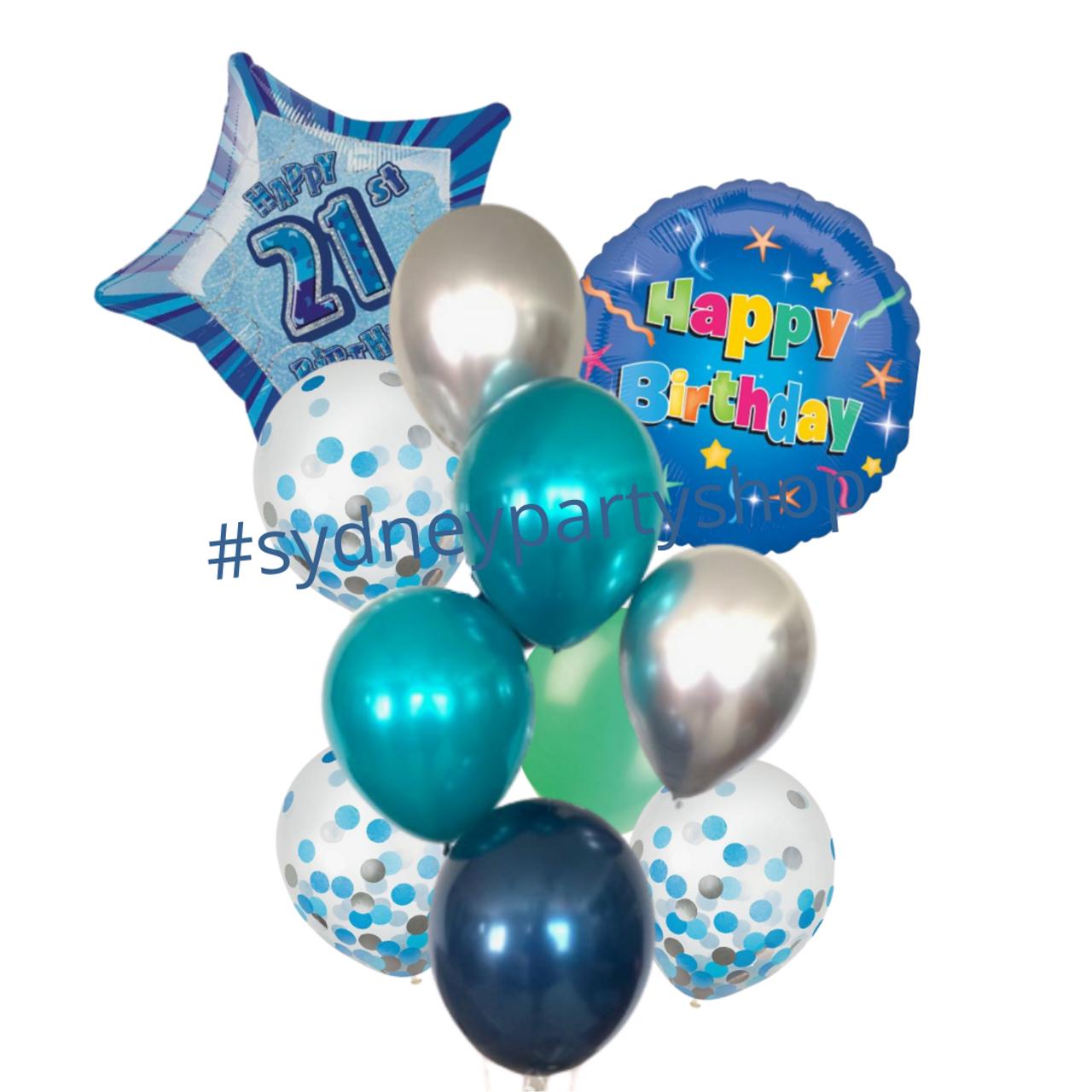 Happy 21st Birthday Balloon Bouquet