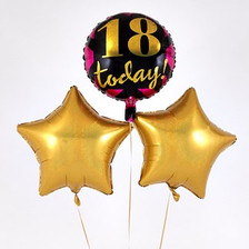 18th Birthday Gold Balloon Bouquet