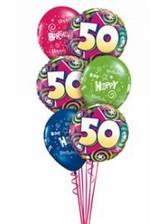 50th Happy Birthday Balloon Bouquet