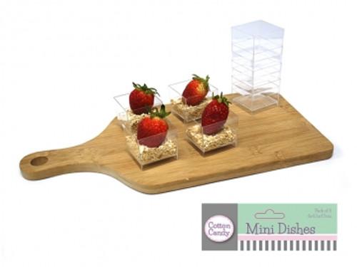 Square Mini Clear Dish