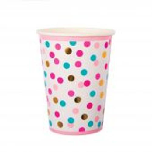 Confetti Paper Cups Pk 8