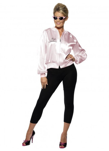 Pink Lady Jacket, For Grease, with Embroidered Logo