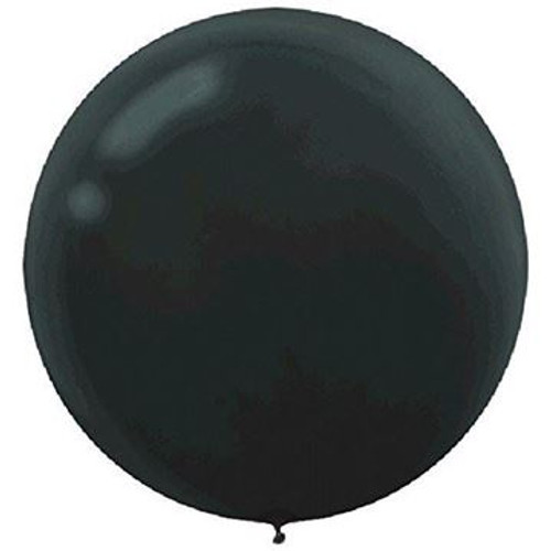 Gender Reveal Black Jumbo  90cm Inflated On Weight