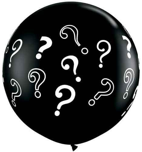 Gender Reveal Printed Jumbo Uninflated Balloon